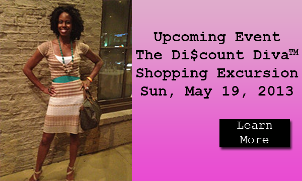 The Di$count Diva May 2013 Excursion Event Slider